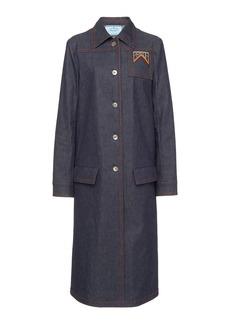 Prada Raw Denim Midi Coat
