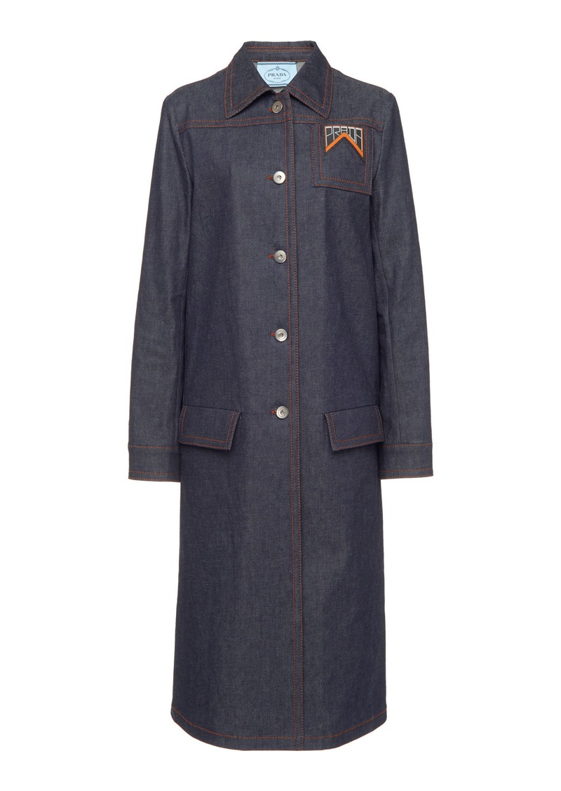 Prada Raw Denim Midi Coat