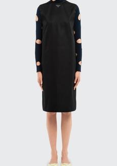 Prada Re-Nylon Shift Midi Dress