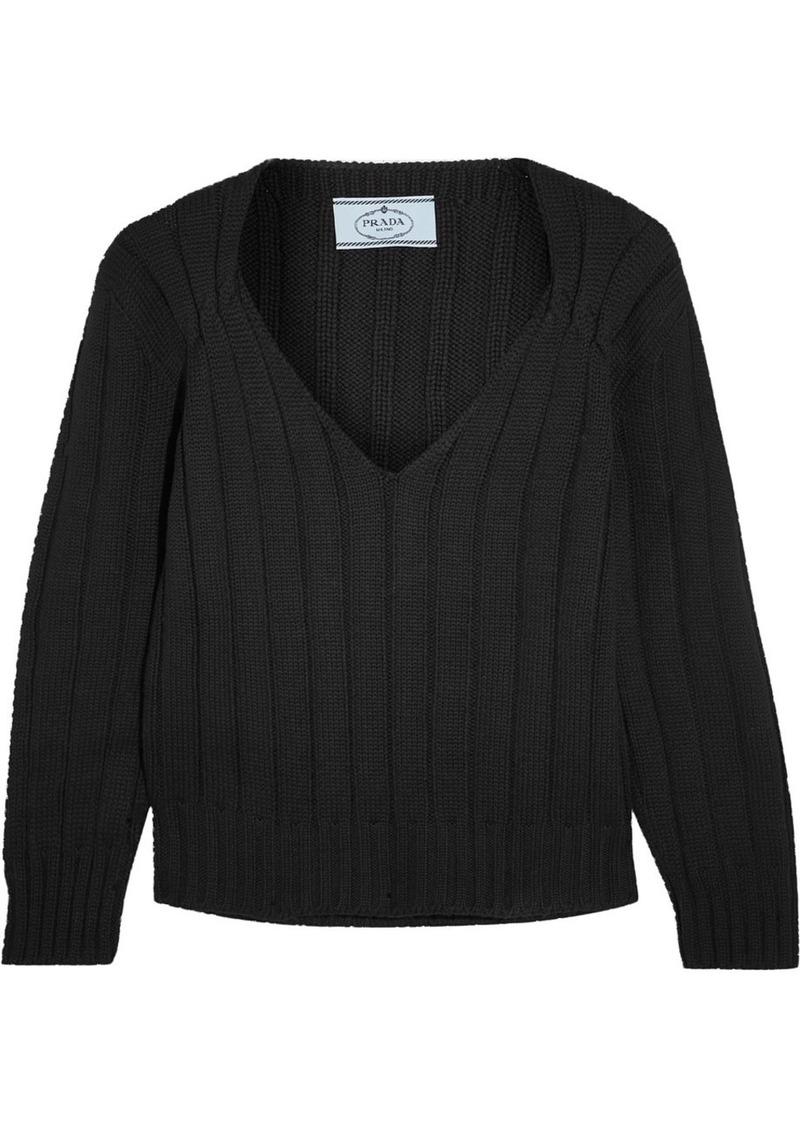 Prada Prada Ribbed wool sweater | Sweaters - Shop It To Me