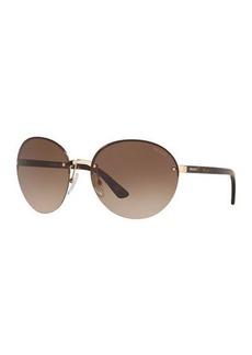 Prada Rimless Acetate/Metal Sunglasses