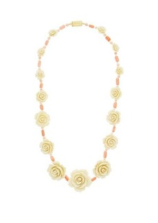 Prada Rose and bead necklace