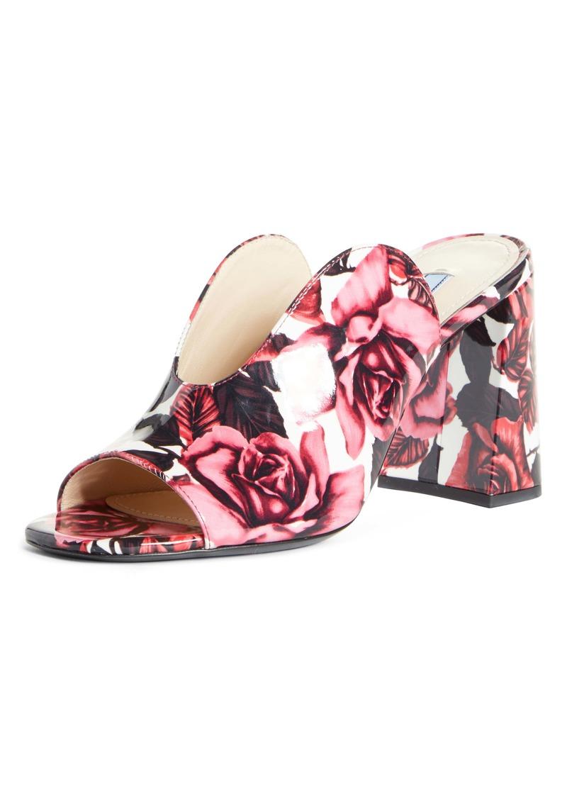Prada Rose Print Slide Sandal (Women)
