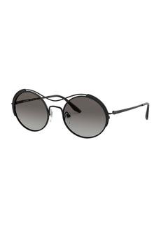 Prada Round Metal Gradient Sunglasses