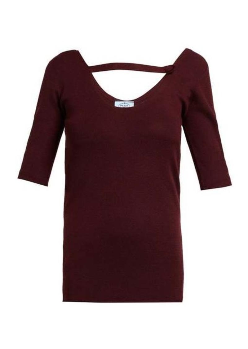 Prada Round-neck cashmere-blend sweater