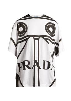 Prada Round-neck Koolhaas-print T-shirt