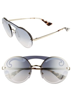 Prada Round Rimless Sunglasses