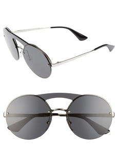 Prada 60mm Round Rimless Sunglasses