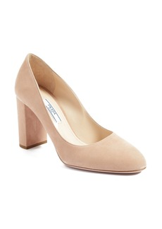 Prada Round Toe Pump (Women)