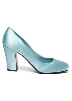Prada Round-toe satin pumps