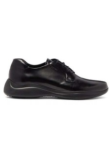 Prada Rubber-sole leather derby shoes