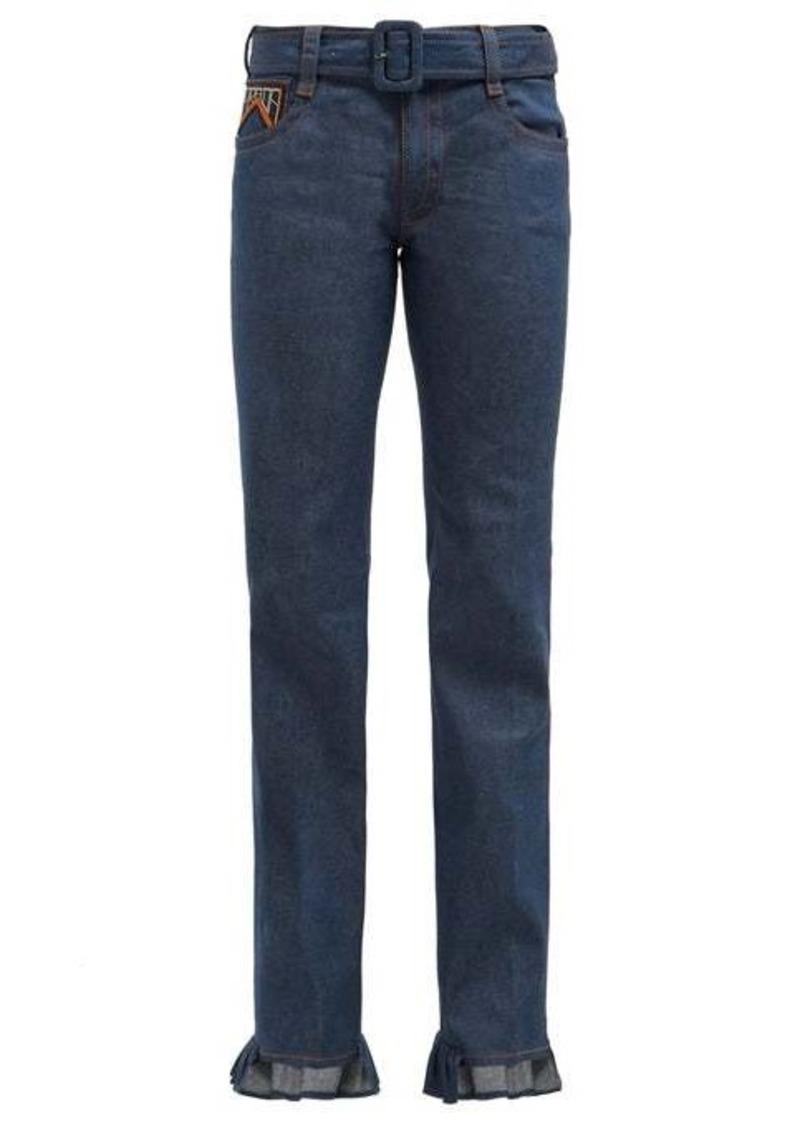 Prada Ruffle-cuffed jeans
