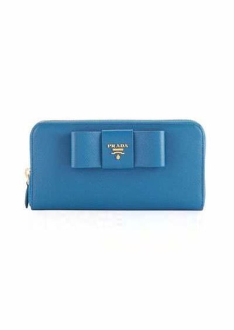 d1db61f7b831 Prada Prada Saffiano Bow Zip Around Wallet   Handbags