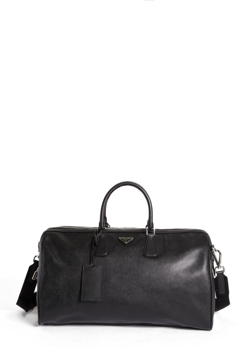 Prada Saffiano Leather Duffel Bag Bags