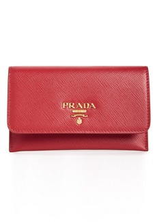 Prada Saffiano Leather Envelope Card Case