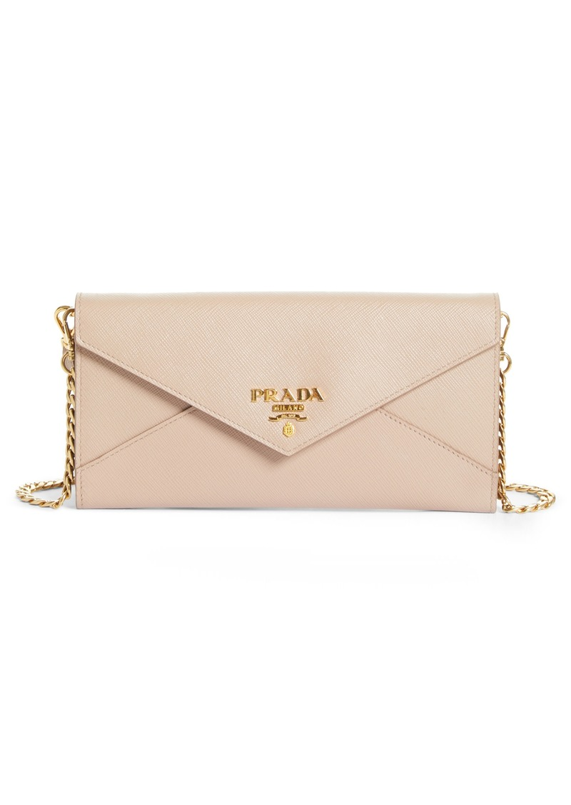 59fc1e11e5fe2e Prada Prada Saffiano Leather Envelope Wristlet | Handbags
