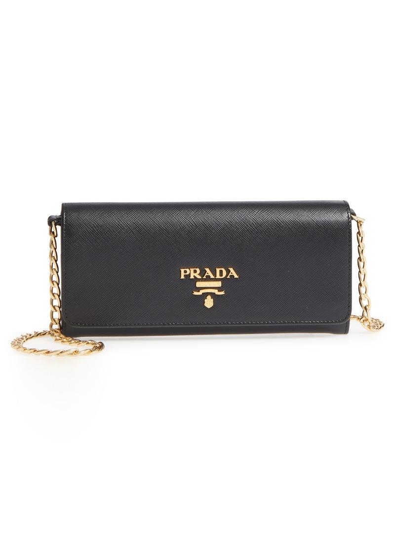 2ff3787ced2fd0 Prada Prada Saffiano Leather Luxe Wallet on a Chain | Handbags