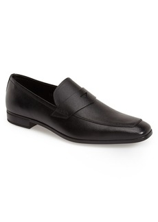 Prada Saffiano Leather Penny Loafer (Men)