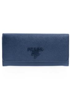 Prada Monochrome Saffiano Leather Wallet