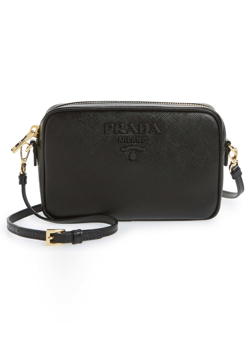 Prada Saffiano Leather Zip Crossbody Bag