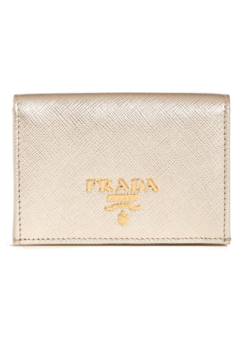 4baf8b1406065f Prada Prada Saffiano Calfskin Leather Card Case   Handbags