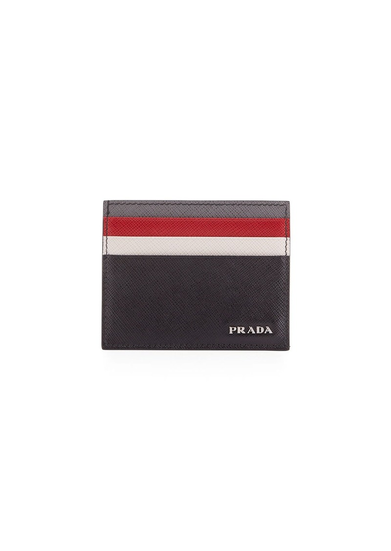 a7509fafd236 Prada Prada Saffiano Surf Colorblock Leather Card Case | Misc ...