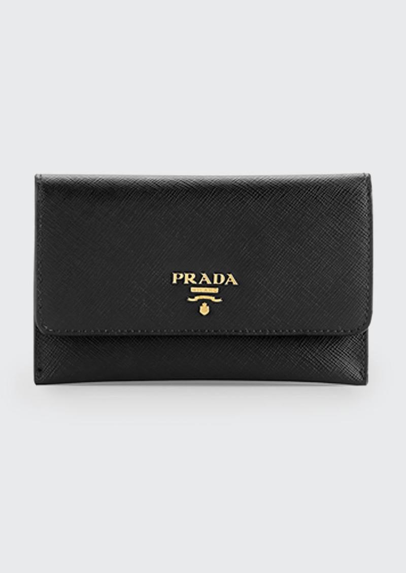 Prada Saffiano Wallet/Card Case  Black (Nero)