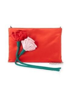 Prada Satin Rose Crossbody Bag