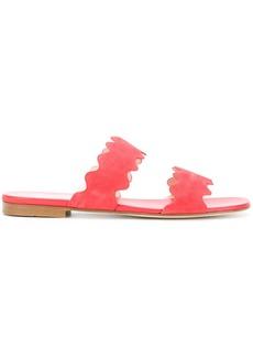 Prada scalloped open toe sandals - Pink & Purple
