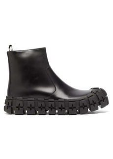 Prada Sculptured-sole leather boots