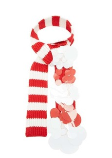 Prada Sequinned striped cashmere scarf
