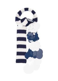 Prada Sequinned striped-cashmere scarf