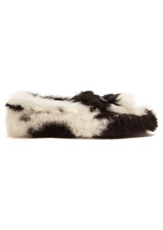 Prada Shearling-effect loafers