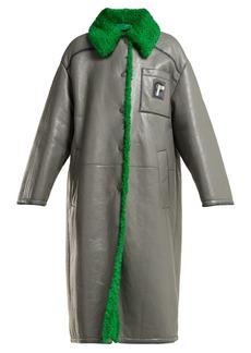 Prada Shearling-lined leather coat