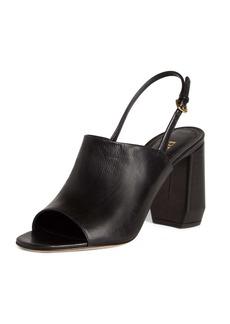 Prada Shield Slingback Sandal (Women)