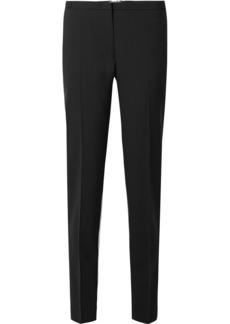Prada Silk-paneled Wool-crepe Tapered Pants