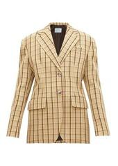 Prada Single-breasted checked wool blazer