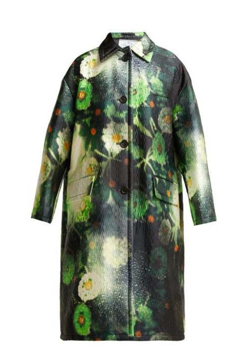Prada Single-breasted duchess-satin coat