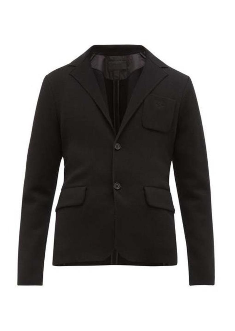 Prada Single-breasted knitted technical blazer