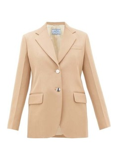 Prada Single-breasted virgin-wool gabardine blazer