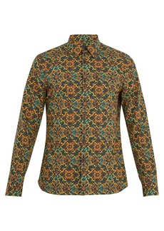 Prada Single-cuff psychedelic-print cotton shirt