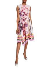 Prada Sleeveless Flowerpot Dress