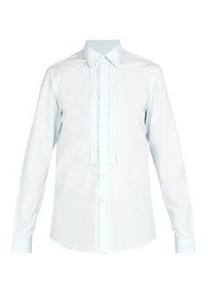 Prada Slim-fit ruffle-trim dinner shirt