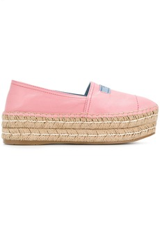 Prada slip-on platform espadrilles - Pink & Purple