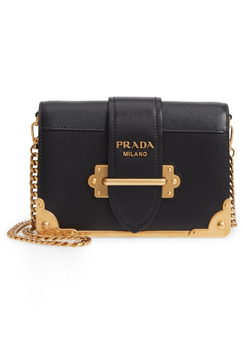 4a67192db68cb0 Prada Prada Small Cahier Calfskin Leather Shoulder Bag | Handbags