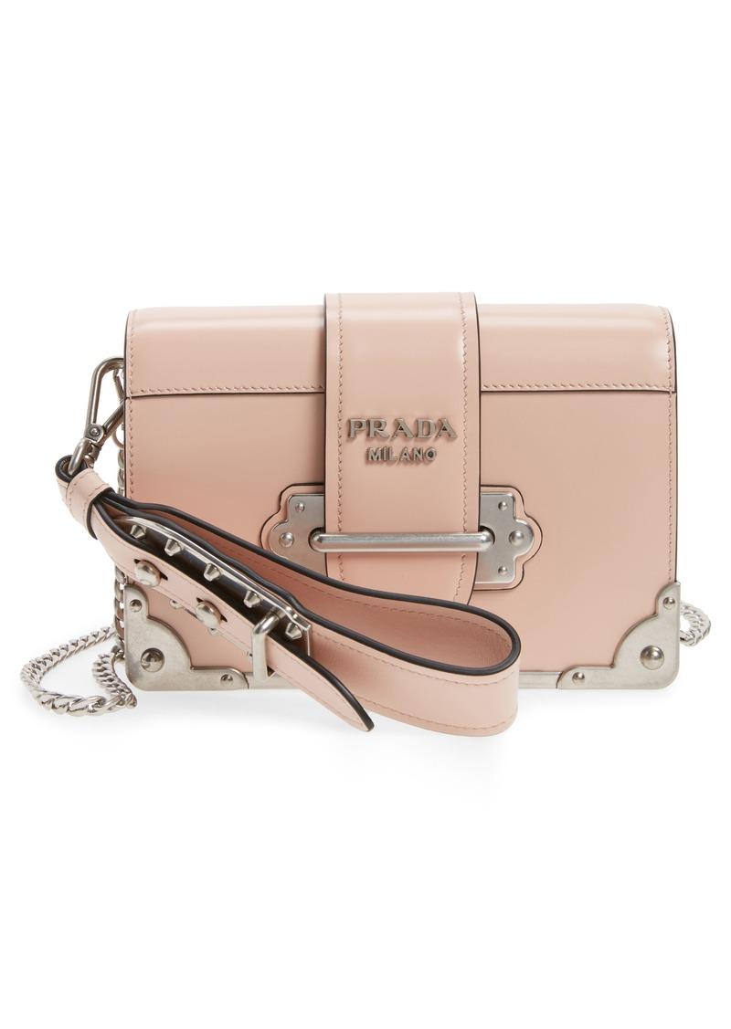 720029b074ad Prada Prada Small Cahier Leather Shoulder Bag