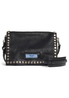 Prada Small Stud Etiquette Shoulder Bag