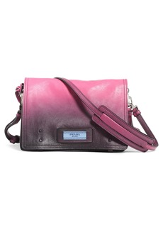 Prada Small Etiquette Patch Leather Shoulder Bag