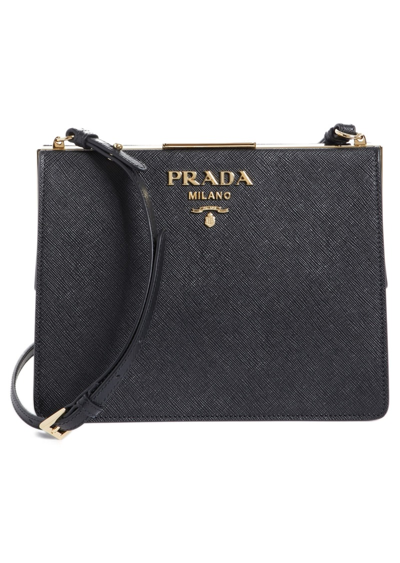 4b02edb927 Prada Prada Small Frame Saffiano   City Calfskin Leather Shoulder ...