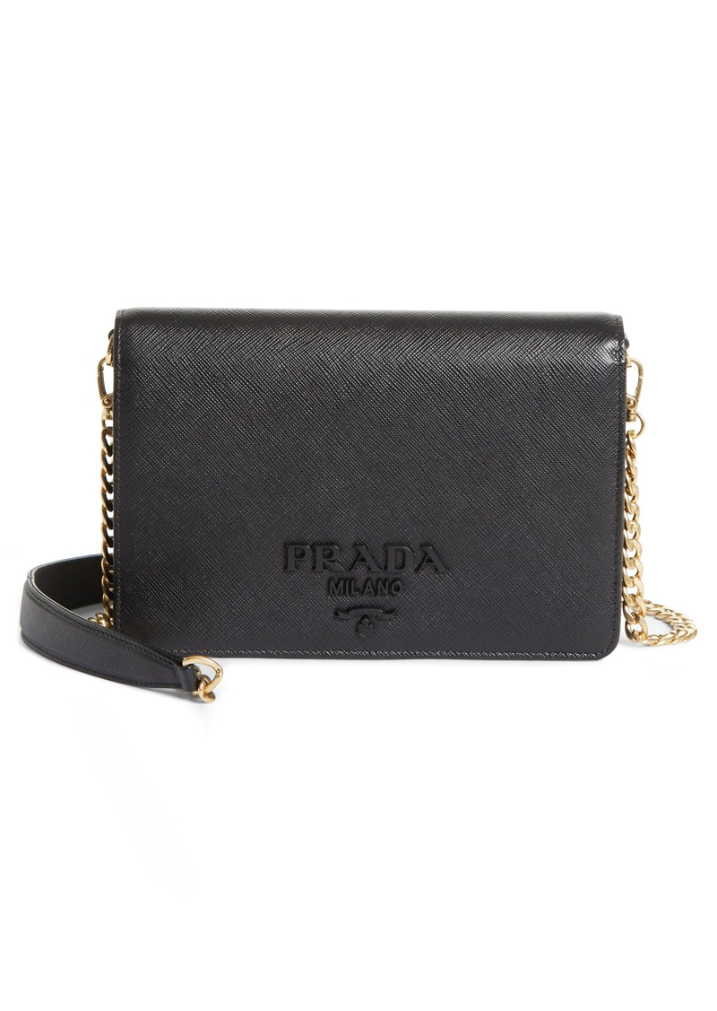 61747e4a94e5 Prada Prada Small Monochrome Crossbody Bag | Handbags